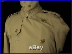 Good Mens Classic Burberry Trench Coat 40 Regular Medium 38 small Storm Collar