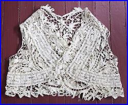 Gorgeous Vintage Irish Lace Vest-1930's Lace-Handmade Crochet Lace Vest