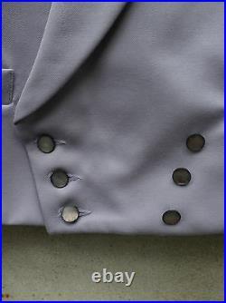 Grey Double-Breasted Morning Waistcoat by Lipman-Peak Lapel 100% Wool 36in 56