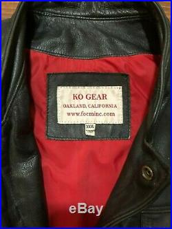 HA LEATHER Vintage Leather Motorcycle Lil Joes Collar Vest XXXL Made in USA
