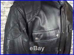 HEIN GERICKE German Leather Motorcycle Jacket XXL / 2XL Black Vintage Dakar