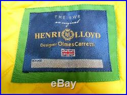 HENRI LLOYD Verde e Azzurro (Tg. M) NUOVO Serie Limited OLMES CARRETTI (PANINARO)