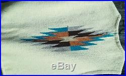 Hand Woven Wool ORTEGA'S CHIMAYO New Mexico Indian Blanket Vest Sz- xs