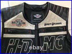Harley Davidson Leather Vest 97012-14VM ULTRA RARE ITEM SIZE L