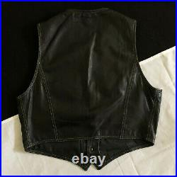 ISTANTE by Gianni Versace black leather men's vest with metal tips 1992/93 Bondage