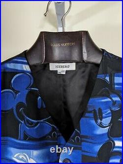 Iceberg History Disney Mickey Mouse Blue And Black Tuxedo Vest 50 Italy