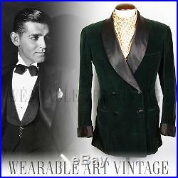 JACKET COAT 1947 40s 30s SAVILE ROW VINTAGE SMOKING WWII EDWARDIAN DOWNTON DANDY