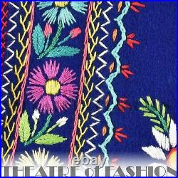 JACKET COAT WAISTCOAT 70s 60s INDIAN VINTAGE FOLK MEXICAN BOHO HIPPY EMBROIDERY