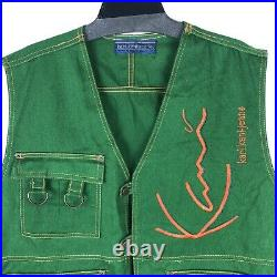 Karl Kani Jeans Vintage Streetwear Urban Embroidered Spellout Vest 2pac Medium
