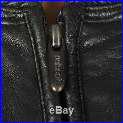 L Mens Pelle Pelle Leather Jacket Black Bomber High Quality Designer Coat VTG