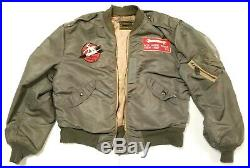L28 Bomber Flying Aviator Jacket WWII WW2 Air Force USAF Rolen Sportswear RARE