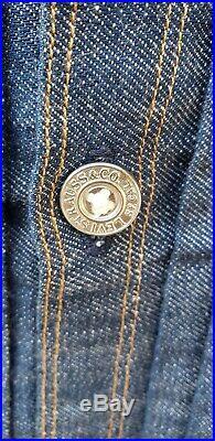 LEVI'S VINTAGE CLOTHING 1940s BUCKLE BACK 2 POCKET DENIM JACKET MEN SIZE 40/ M