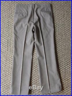 LeBaron California Vintage Men's 3 Piece Suit With Suede Vest & Accents Sz 37 RARE