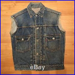 Levi's 50's vintage 507XX #13 MC motorcycle club denim jacket cut-off vest S/M