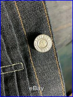 Levi's Vintage Clothing LVC 1880 Cone Denim Triple Pleat Jacket Men Large