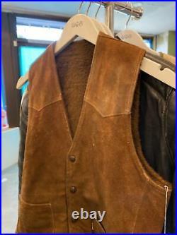 Levis 50s 60s Authentic Western Leather Vest Size 36