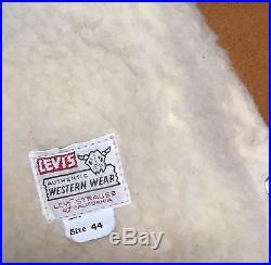 Levis Big E Vest Shorthorn Suede Sz 44 Western Cowboy Leather Vest Vintage