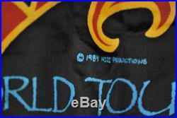MENS S VTG 80s 1984 Dio Rock Metal Concert World Tour Satin Snap Vest Jacket