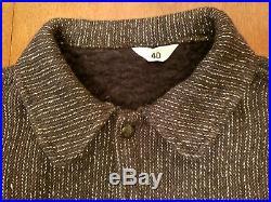 MINT Vtg 40's 50's Browns Beach Jacket Co Beach Cloth Wool & Fleece Scovill Sz40