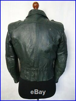 Men's 1940's Vintage WW2 German Horsehide Leather Luftwaffe Jacket 38R (S)
