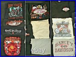 Men's 90s 2000s Harley Davidson TShirt Lot 36 Shirts Vtg Motorcycle T Shirts