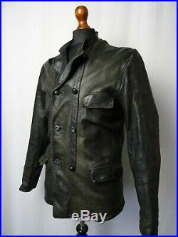 Men's Swedish WW2 Vintage Goatskin Leather Flying Cyclist Jacket 38R (S)