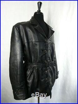 Men's Vintage 1940's Goatskin Leather Motorcycle Sports Jacket 44R-46 (L-XL)