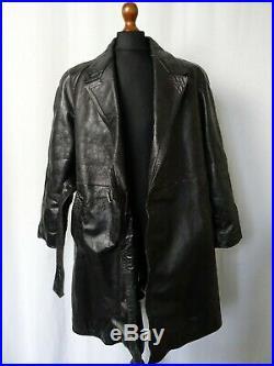 Men's Vintage 1940's WW2 German Officers Horsehide Leather Jacket 42R