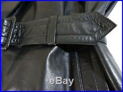 Men's Vintage 1940's WW2 Horsehide Leather Gestapo Trench Coat 40R