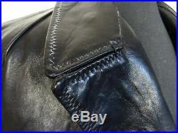 Men's Vintage 1970's Steerhide Leather Italian Police Jacket 42R (M)