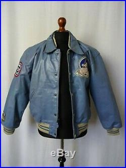 Men's Vintage 1990'S AVIREX Varsity Leather Jacket 38R (S)