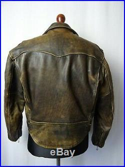 Men's Vintage Chevignon Leather Flying Biker Jacket 44R (L)
