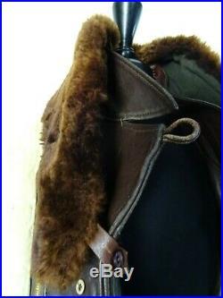 Men's Vintage Leather 1940's French Mackinaw Barnstormer Jacket 42R (M)