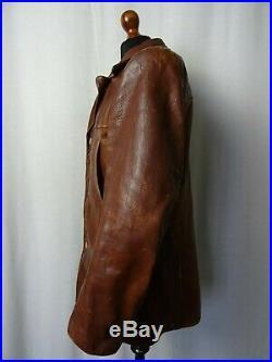 Men's Vintage Malungs 1950's Goatskin Leather Motorcycle Sports Jacket 42R (M)