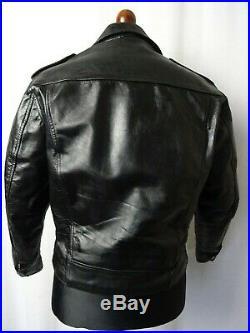 Men's Vintage STAGG 1960'S Leather Biker Jacket 38R (S)