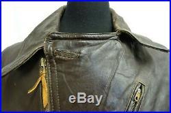 Men's Vintage WW2 1940's German Horsehide Leather Motorcycle Luftwaffe Jacket M