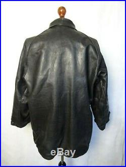 Men's Vintage WW2 Swedish Army Officers Trench Coat Jacket 46R (XL)