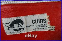 Men's Vtg 1970's HONDA Furygan Cafe Racer Leather Motorcycle Jacket 38R (S)