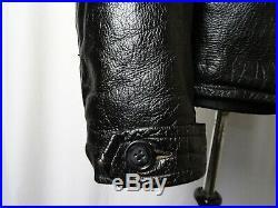Men's Vtg Skinnarland 1940's Goatskin Leather Sports Motorcycle Jacket L (42-44)