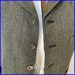 Men's vest or waistcoat Gray wool & Cotton French vintage clothing 1900's early