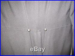 Mens 1900 Formal Wear Top Coat/Vest Black Wool Size 36