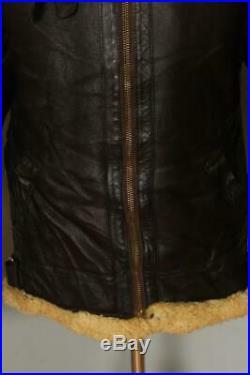 Mens Aviation Leathercraft B-3 Sheepskin Leather USAAF Winter Jacket Medium
