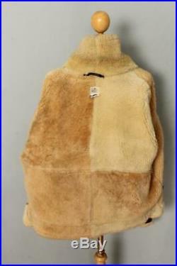 Mens B-3 BRANDED By Orchard Sheepskin Leather Winter Flight Jacket 46