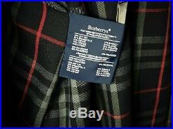 Mens Blue Vtg Burberry The Kensington Traditional Long Trench Coat 48 50 Long