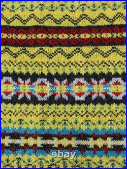 Mens Fairisle Vest Piccalilli Shetland Knitted Wool Sleeveless Sweater
