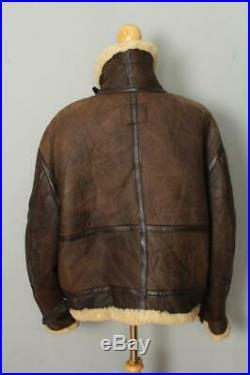 Mens SCHOTT B-3 USAAF Sheepskin Leather Winter Flight Jacket Size 50 XXL