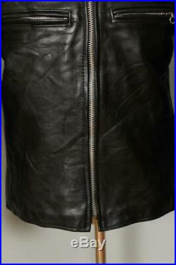 Mens VANSON Comet CAFE RACER Motorcycle Sports Leather Jacket Large