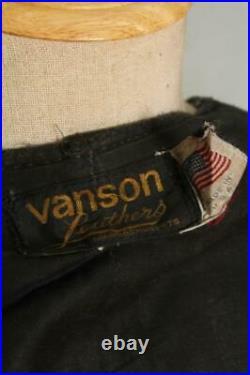 Mens VANSON Leather Motorcycle Vest Waistcoat XSmall