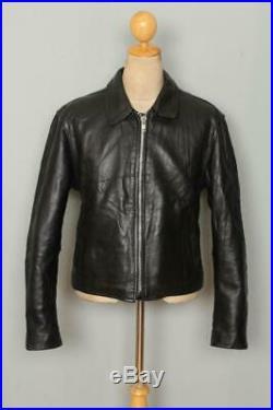 Mens VANSON Mercury Black Motorcycle Biker Leather Jacket Size 44