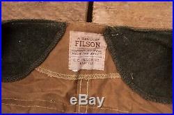 Mens Vintage CC Filson Beige Tan Tin Cloth Hunting Vest Jacket L 42 XR 8397